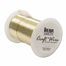 30 yard Spool BeadSmith Tarnish Resistant GOLD 1/2 Hard Wrapping Wire ~ 24 Gauge