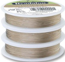 30 Foot Spool Beadalon 7 Strand CHAMPAGNE Bead Stringing WIRE ~  .018""