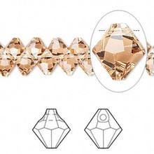 12 Swarovski Crystal Light Colorado Topaz 6mm Top Drilled Bicone Beads ~ 6301