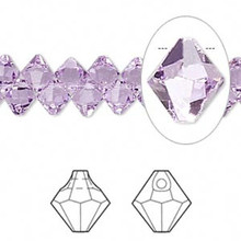 12 Swarovski Crystal  Violet 6mm Top Drilled Bicone Beads ~ 6301