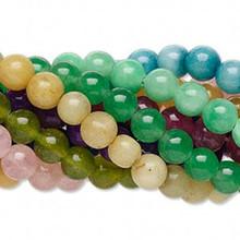 Wholesale 10 Strands Dyed Quartz 6mm Round Bead Mix  *