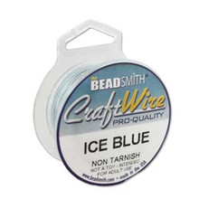 6 yard Spool Tarnish Resistant Ice Blue Wrapping Wire ~ 20 gauge