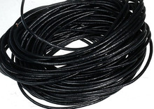 5 Meters Bead Smith Black Greek Leather Cord ~ 1.5mm Round