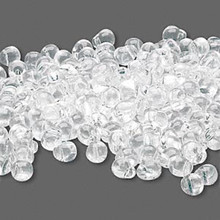 10 Grams Teardrop Fringe Glass Beads ~ 4x3.4mm ~ Clear