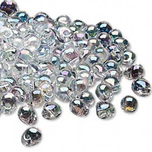 10 Grams Teardrop Fringe Glass Beads ~ 4x3.4mm ~ Clear Rainbow