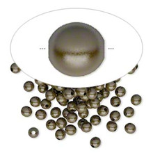 100 Antiqued Brass Plated Brass Round Smooth Beads ~ 3mm