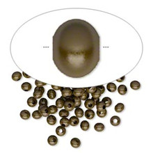 100 Antiqued Brass Plated Brass Rondelle Smooth Beads ~ 3x2mm