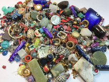 1 Pound Grab Bag of Mixed Components & Beads ~ Approximately 470 Pieces  *