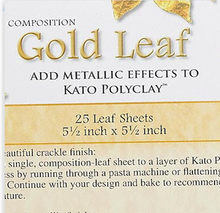 "25 Sheets Imitation Gold Leaf ~ 5.5"" Sheets Metallic Leafing"