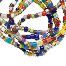 1 Strand Multicolored Glass Beads Mix ~ Approx. 2x1mm-4x3mm Mixed Shapes