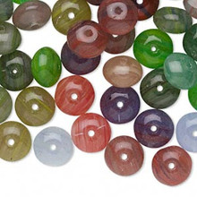 1/4 Pound Czech Pressed Glass Rondelle Bead Mix ~ 8x6mm *
