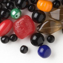 100 Grams Czech Pressed Glass Bead Mix ~Multi Shapes & Colors  *