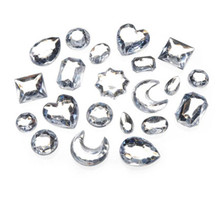 1 Pound CLEAR Acrylic Rhinestone ~ Clear Color with Shape Mix