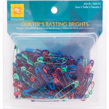 "200 Bright Colored Anodized Safety Pins Mix ~ Size 1 is 1 1/16"" Long"