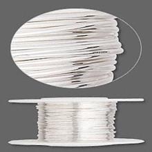 25 Feet Argentium Sterling Silver Dead Soft Round Wire ~ 24 gauge