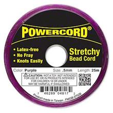25 Meter Spool Purple No Fray Elastic POWERCord  ~  0.5mm ~ 4 Pound Test
