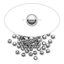 100 Sterling Silver Seamless Round Beads ~ 3mm