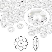 12 Swarovski Marguerite Lochrose Flower Crystal Beads ~ 6x2mm Crystal ~ 3700
