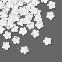 12 Swarovski Faceted Flower Crystal Beads ~ 6x6mm Crystal ~ 5744