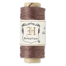 100 Foot Spool Dark Brown Hemp Cord ~ 0.5mm ~ 10lb Test ~ 3 Ply