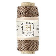 100 Foot Spool Light Brown Hemp Cord ~ 0.5mm ~ 10lb Test ~ 3 Ply