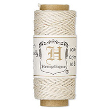 100 Foot Spool Natural Hemp Cord ~ 0.5mm ~ 10lb Test ~ 3 Ply