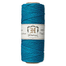 205 Foot Spool Polished Hemp Cord ~ Turquoise Blue ~ 1mm ~ 20lb Test