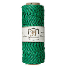 205 Foot Spool Polished Hemp Cord ~ Green ~ 1mm ~ 20lb Test