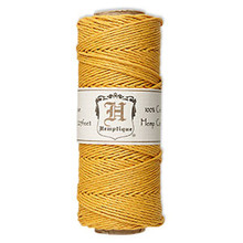205 Foot Spool Smooth Polished Hemp Cord ~ Yellow Gold ~ 1mm ~ 20lb Test