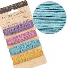 120 Foot Set Smooth Hemp Cord ~ Assorted Pastel ~ 1mm ~ 20lb Test