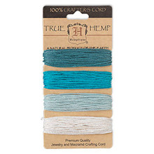 120 Foot Set Smooth Hemp Cord ~ Blue Shades ~ 1mm ~ 20lb Test