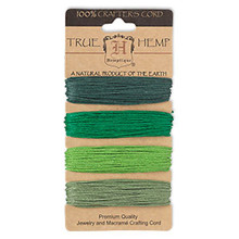 120 Foot Set Smooth Hemp Cord ~ Green Shades ~ 1mm ~ 20lb Test