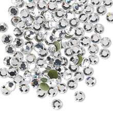 144 Hot Fix Flatback Round Crystals~ 3.9-4mm ~ SS16 ~ Crystal Clear *