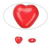 1 Strand Czech Pressed Glass Opaque Orange 8x7.5x4mm Heart Beads *