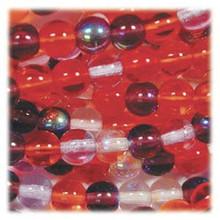 50 Czech Pressed Glass Druk 8mm Round Beads ~ Melonberry MIX