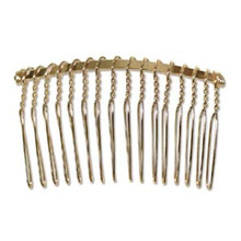 12 Gold Plated Wire Hair Comb ~ Ready to Wear OR Wrap with Beads