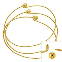 2 Gold Plated Oval Beading Bangle Bracelets ~ Add Beads & Charms!