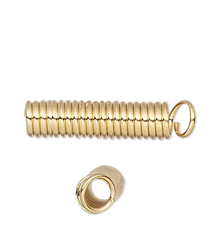 100 Gold Plated Brass Spring Finishing Coil 11x3mm Cord Ends