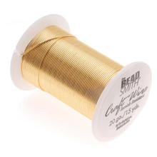 15 yard Spool BeadSmith Tarnish Resistant Gold 1/2 Hard Wrapping Wire ~ 20 Gauge