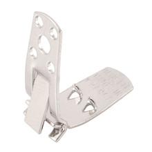 12 Steel Square Shoe Clips ~ 30x7mm  ~ Use like Clip-on Earrings But for Shoes
