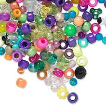 1 Pound Acrylic Bead Mix ~ Mixed Shapes & Colors ~ Approximately 2000 Beads