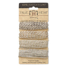 120 Foot Set Smooth Hemp Cord ~ Natural Metallics ~ 1mm ~ 20lb Test