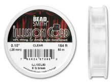 164 Foot Spool Bead Smith Clear Illusion Cord  ~ 0.10-Inch  ~ 6 lb Break