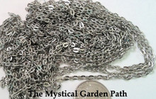 163 Inches Antiqued Silver Fine Cable Bulk Chain with 2x3mm Links *