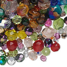 1,300+ Czech Fire Polished Glass Faceted Bead MIX ~ 1/2 Kilogram