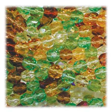 50 Czech Fire Polished 8mm Glass Beads ~  Earthtone MIX