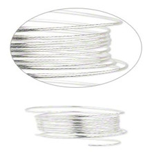 25 Foot Spool Sterling Silver Half Hard ~ Round Wire ~ 24 Gauge