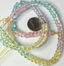 1 Strand Crackle Glass Rondelle Bead Mix ~ 4x6mm Pastel Colors *