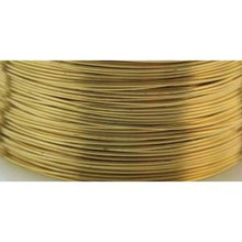 4 Yards Non Tarnish Fool's Gold HALF Round Wrapping Wire ~ 18 Gauge