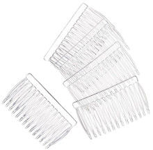 15 Clear Plastic Hair Combs ~ 42x70mm ~ Ready to Wear or Decorate